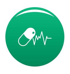 Capsule icon green vector