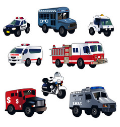 Cartoon law enforcement cars vector