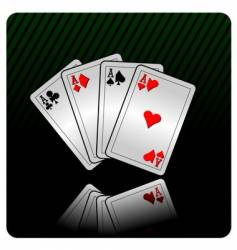 casino with cards vector image