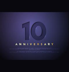 celebrating 10th anniversary logo vector image