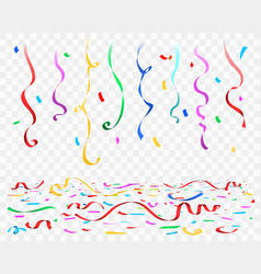 celebration confetti floor on transparent vector image
