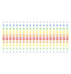 certificate shape halftone spectral array vector image