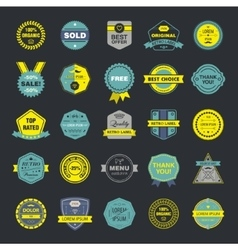 Collection of premium retro badges and vector image