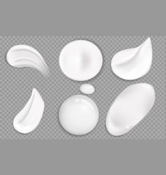 cosmetic cream smears realistic icon set vector image