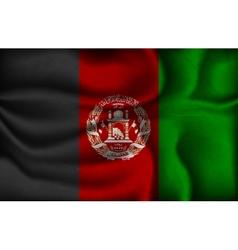 Crumpled flag afghanistan vector