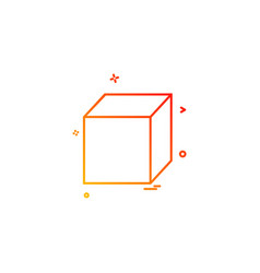 cube icon design vector image