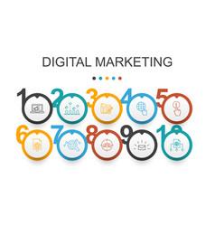 digital marketing infographic design template vector image