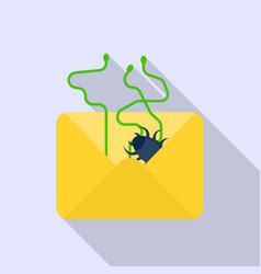 email data spam icon flat style vector image
