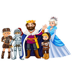 Fairytale characters on white background vector
