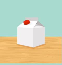 farm cartoon milk vector image