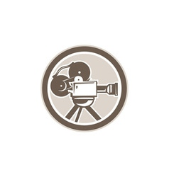Film Movie Camera Vintage Circle Retro vector