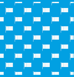 flag pattern seamless blue vector image