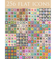 flat icons 13 vector image