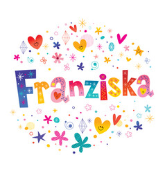 Franziska girls name vector