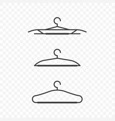 icons of clothes hangers on a transparent vector image
