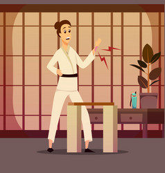 Injury on karateka composition vector