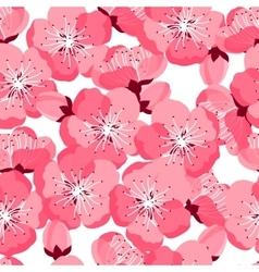 Japanese sakura seamless pattern with stylized vector image vector image