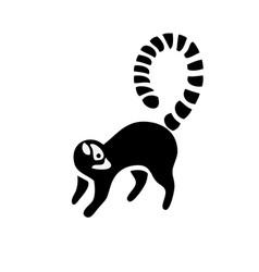 Lemur silhouette logo vector