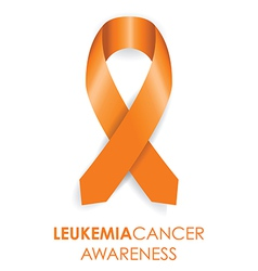 leukemia cancer awareness ribbon vector image