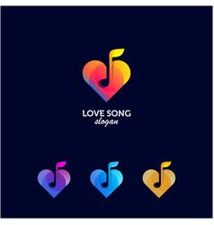 Love song logo gradient color vector