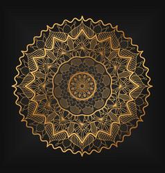 Luxury ornamental mandala design background vector