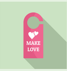 Make love room tag icon flat style vector