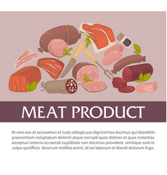 meat product butchery shop herbs and spices food vector image