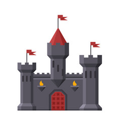 Medieval castle fortress with towers ancient vector
