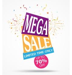 Mega sale banner design vector
