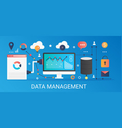 Modern flat gradient data management vector