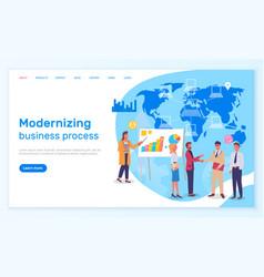 modernizing business process landing page vector image