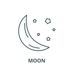moon line icon linear concept outline vector image