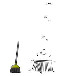 numbers game broom vector image