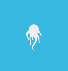 octopus logotype abstract squid shape logo vector image
