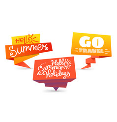 paper banners isolated on white background summer vector image