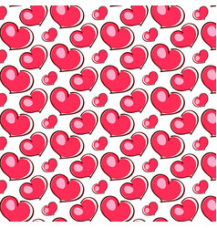 pink hearts love vector image