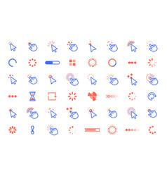 pointer click icon web clicks pointer cursor vector image