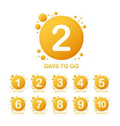 Promotional banner with number days to go sign vector