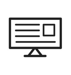 Reading news online vector