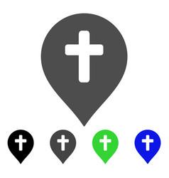 religion cross marker flat icon vector image
