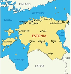 Republic of Estonia - map vector image vector image
