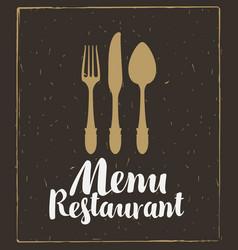 restaurant menu template vector image