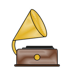 retro gramophone player vector image