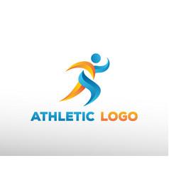 Run logo man logo sport logo athletic logo vector