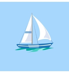 Sailboat on the water vector