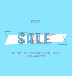 sale font alphabet vector image