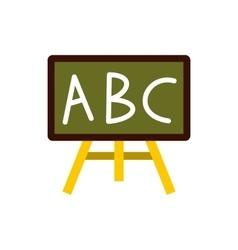 School board icon flat style vector