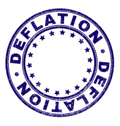Scratched textured deflation round stamp seal vector
