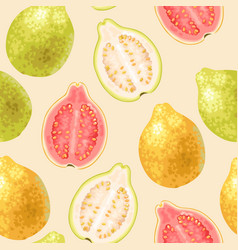 Seamless guava fruits vector