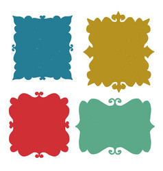 set hand drawn frames vector image